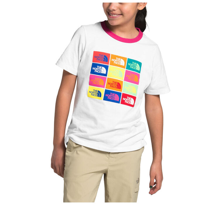 The North Face Girl's Logo Short Sleeve Gra