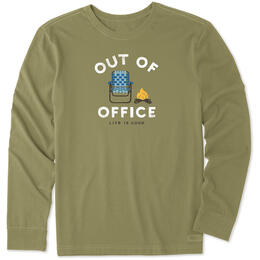 Life Is Good Men's Out Of Office Camp Crusher Long Sleeve Tee Shirt