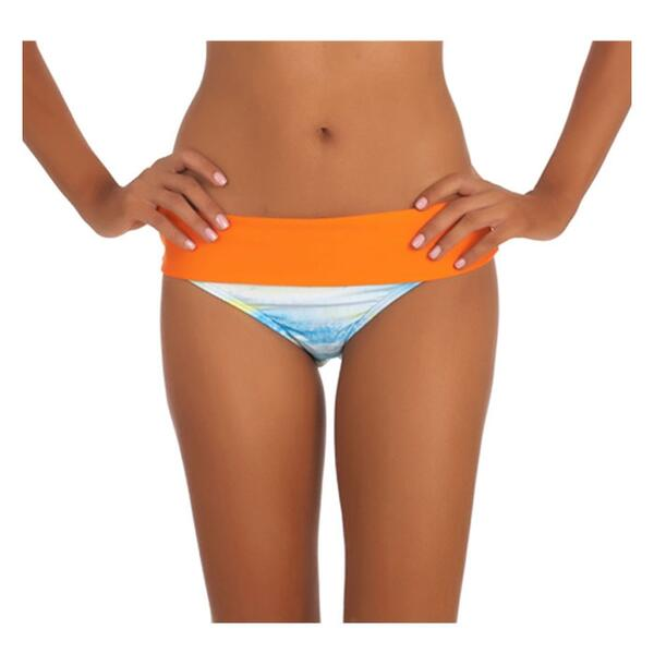 Next By Athena Women's Tranquil Waters Banded Bikini Bottom