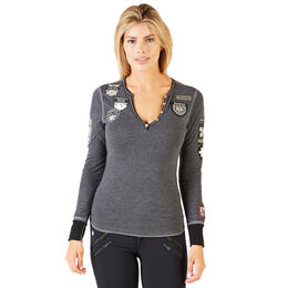 Alp-n-Rock Women's Ski the World Henley Shirt