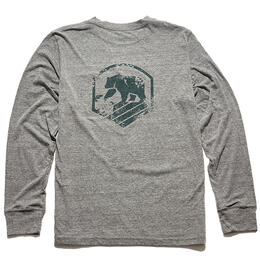The Normal Brand Men's Vintage Activewear Grey Long Sleeve T Shirt