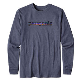 Patagonia Men's Long Sleeve 73 Text Logo Tee Shirt