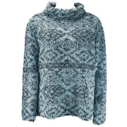 Dylan By True Grit Women's Tribal Tipped Pile Cozy Pullover