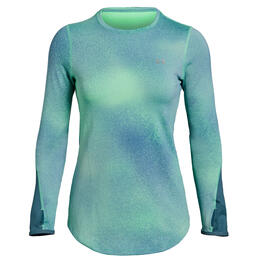 Under Armour Women's Coldgear Armour Print Crew Long Sleeve Shirt
