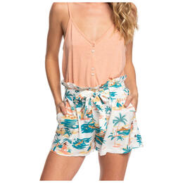 Roxy Women's South Side High Waist Paper Bag Shorts
