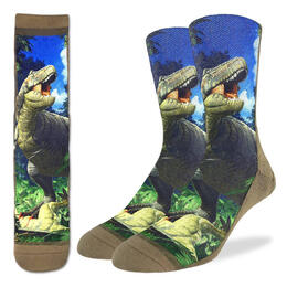 Good Luck Socks Men's Tyrannosaurus Rex Dino Socks