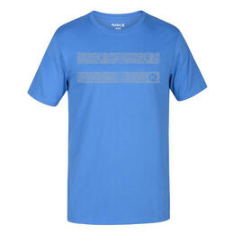 Hurley Men's Horizontal Dri-fit Short Sleeve T Shirt