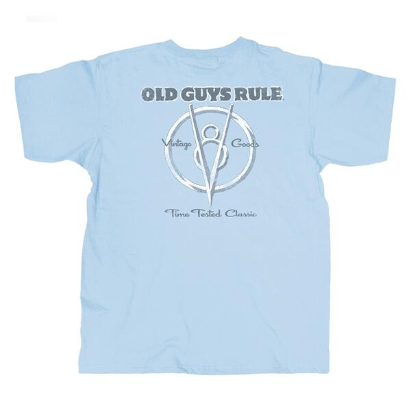 Old Guys Rule Classic V8 Short Sleeve Tee Shirt