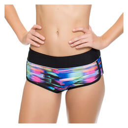 Next By Athena Women's Turn Up The Tempo Go Girl Banded Shorts