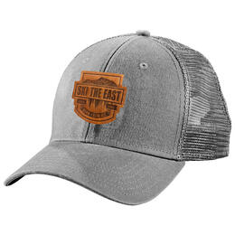 Ski The East Born From Ice Trucker Hat