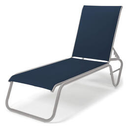 Telescope Casual Gardenella Sling Four-Position Lay-flat Stacking Armless Mavi Chaise Lounge Chair
