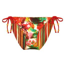 Becca Women's Wall Flower Reversible Tie Side Bikini Bottom