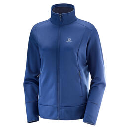 Salomon Women's Discovery Full Zip Top, Medieval Blue