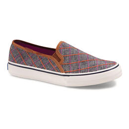 Keds Women's Double Darker Windowpane Plaid Casual Shoes