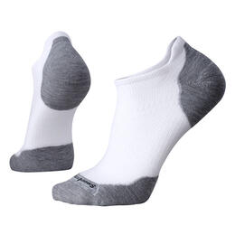 Smartwool Men's PhD Run Light Elite Micro Socks White/Light Grey