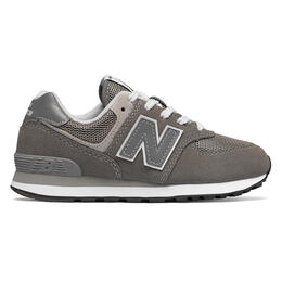 New Balance Little Kids' 574 Core Grey Running Shoes