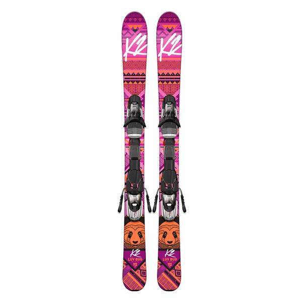 K2 Children's Luv Bug Skis with Fastrak2 4.5 Bindings '16