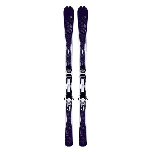 Volkl Women's Chiara All Mountain Skis with 4Motion 11.0 TC Bindings '15
