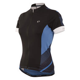 Pearl Izumi Women's Elite Pursuit Short Sleeve Cycling Jersey Black Stripe
