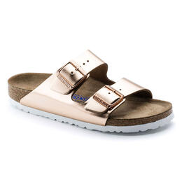 Birkenstock Women's Arizona Soft Leather Metallic Sandals