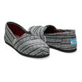 Toms Women's Silver Metallic Stripe Seasonal