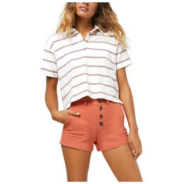 O'neill Women's Ace Retro Crop Polo Shirt