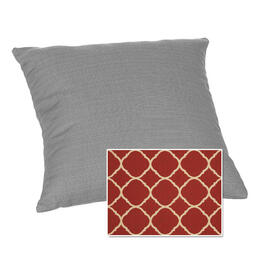 Casual Cushion Corp. 15x15 Throw Pillow - Accord Crimson