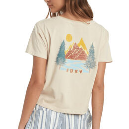 ROXY Women's In The Mountains Cropped T Shirt