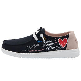 Hey Dude Women's Wendy Canvas Doodle Casual Shoes