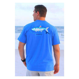 Burlebo Men's Tarpon Rod T Shirt Heather Flo
