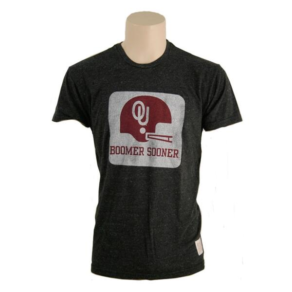 Original Retro Brand Men's Ou Helmet Short Sleeve Tee Shirt