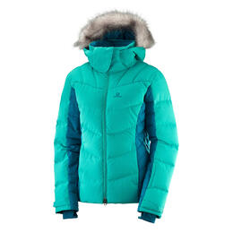 Salomon Women's Icetown Ski Jacket, Waterfall/Deep Lagoon