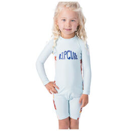 Rip Curl Toddler Girl's Long Sleeve UV Spring Rash Suit