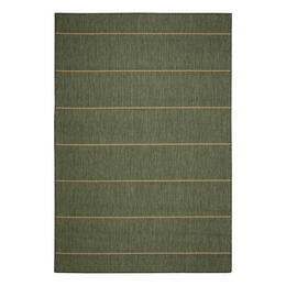 Pawleys Island Palmetto Stripe Green Porch Rug