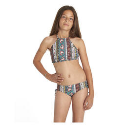 Billabong Girl's Hippy Ditsy High Neck Bikini Set