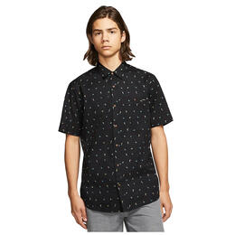 Hurley Men's Birds Stretch Short Sleeve Shirt