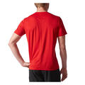 Adidas Men's Response Short Sleeve Running Shirt Back Red