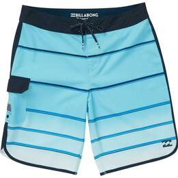 Billabong Boy's 73 X Stripe Boardshorts Light Blue