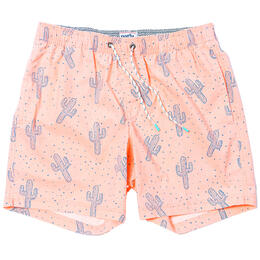 Party Pants Men's Space Cactus Swim Trunks