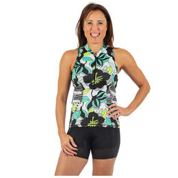 Shebeest Women's Tri Troika Zip Cycling Tank Top