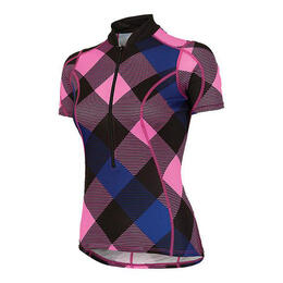 Shebeest Women's S Cut Tri Gingham Cycling Jersey