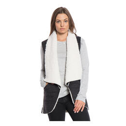 Dylan by True Grit Women's Flannel & Sherpa Road Trip Vest
