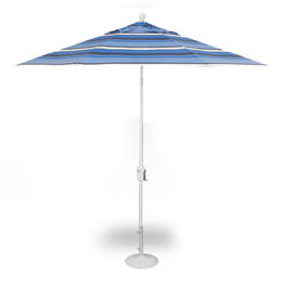 Treasure Garden 9' Push Button Tilt Umbrella - White Hampton