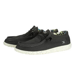 Hey Dude Men's Wally Stretch Black Casual Shoes