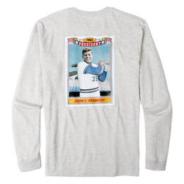 Rowdy Gentleman Men's Jfk Card Long Sleeve Pocket T-Shirt