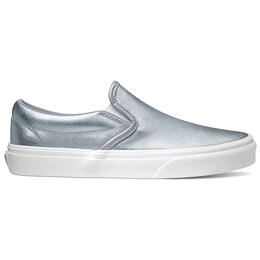 Vans Women's Classic Slip On Metallic Grey Casual Shoes