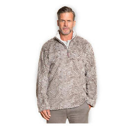 True Grit Men's Frosty Tribal Cord Pile Sweater