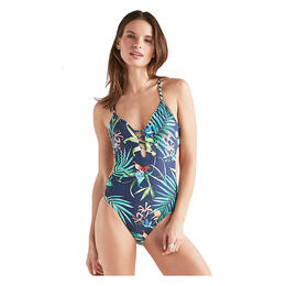 Lucky Women's Lush Leaf One Piece Swimsuit
