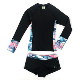 Next By Athena Girl's Summer Shade Rashguard Swimsuit Set