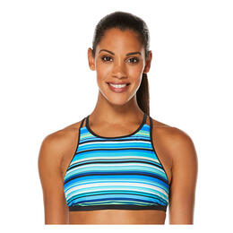 Jag Sport Women's Victory Stripe High Neck Bikini Top